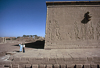 0131655 © Granger - Historical Picture ArchiveEGYPT: TEMPLE OF HATHOR.   Exterior view of the Temple of Hathor at Dendera, Egypt, 1st century B.C. Photographed c1975.