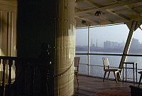0131923 © Granger - Historical Picture ArchiveEGYPT: NILE STEAMBOAT.   A view from the deck of a steamboat on the Nile River in Egypt. Photographed c1975.