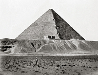 0260385 © Granger - Historical Picture ArchiveEGYPT: CHEOPS PYRAMID.   A view of the Great Pyramid of Cheops, Giza, Egypt. Photograph, mid or late 19th century.