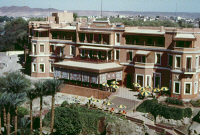 0354836 © Granger - Historical Picture ArchiveEGYPT: CATARACT HOTEL.   The Old Cataract Hotel at Aswan, Egypt. Photograph, c1970.