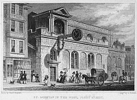 0031754 © Granger - Historical Picture ArchiveENGLAND: LONDON, c1830.   'St. Dunstan in the West, Fleet Street.' Line engraving, c1830.