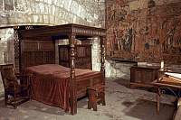 0034277 © Granger - Historical Picture ArchiveLONDON: TOWER OF LONDON.   Bedroom in the Bloody Tower, Her Majesty's Royal Palace and Fortress, known as the Tower of London.