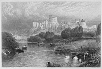 0034294 © Granger - Historical Picture ArchiveENGLAND: WINDSOR CASTLE.   Steel engraving, English, 19th century.