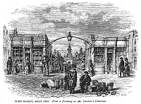 0042582 © Granger - Historical Picture ArchiveLONDON: FLEET MARKET.   'Fleet Market, about 1800.' Wood engraving, English, 19th century.