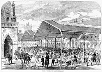 0087370 © Granger - Historical Picture ArchiveLONDON: FISH MARKET, 1870.   The opening of the Columbia fish market in Bethnal Green, London, England.