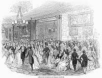 0095613 © Granger - Historical Picture ArchiveLONDON: SOCIAL LIFE, 1844.   'Opening of the British and Foreign Institute.' Wood engraving from an English newspaper of 1844.