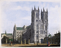 0103043 © Granger - Historical Picture ArchiveLONDON: WESTMINSTER ABBEY.   Steel engraving, French, c1850.