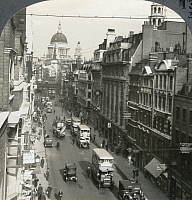 0322963 © Granger - Historical Picture ArchiveLONDON: FLEET STREET, c1915.   'Fleet Street, Center of English Journalism, East to St. Paul's, London, England.' Stereograph, c1915.