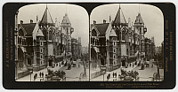 0323033 © Granger - Historical Picture ArchiveFLEET STREET, c1908.   'The Magnificent Law Courts Building and Fleet Street, London, England.' Stereograph, c1908.