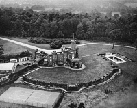 0350740 © Granger - Historical Picture ArchiveFORT BELVEDERE, 1936.   Aerial view of Fort Belvedere, the country home of King Edward VIII from 1930 to 1936, in Surrey, England. Photograph, 1936.