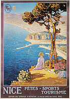 0033180 © Granger - Historical Picture ArchiveNICE, FRANCE, c1920.   French tourism poster promoting the resort city of Nice on the Riviera, c1920.
