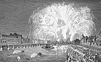 0034877 © Granger - Historical Picture ArchivePARIS: PONT NEUF, 1745.   Parisians watching the fireworks on the Pont Neuf in 1745. After a contemporary engraving.