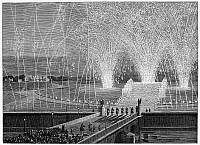 0061465 © Granger - Historical Picture ArchiveFIREWORKS AT TROCARDERO.   Wood engraving, English, 1869.