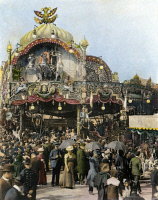 0071876 © Granger - Historical Picture ArchivePARIS EXPOSITION, 1900.   Oil over a photograph.