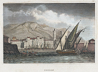 0104774 © Granger - Historical Picture ArchiveFRANCE: TOULON, c1850.   View of the harbor at Toulon, France. Steel engraving, German, c1850.