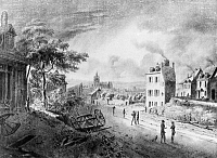 0117080 © Granger - Historical Picture ArchiveFRANCE: FRANCHE-COMTÉ TOWN.   View of the town of Dole in Eastern France, a place similar to the setting of the beginning of Stendhal's novel 'Le Rouge et le Noir,' published in 1830.  Drawing by Pointurier, 1827.