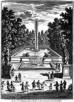 0117602 © Granger - Historical Picture ArchiveVERSAILLES: GARDENS, 1685.   Fountain of the Cabinet of Diane. Line engraving from Perelle's 'Views of the Beautiful Homes of France,' 1685.