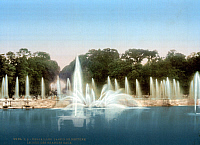 0123743 © Granger - Historical Picture ArchiveVERSAILLES: FOUNTAIN.   A view of the Neptune Basin at the palace of Versailles, France. Photochrome, c1900.