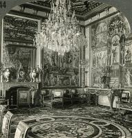 0326561 © Granger - Historical Picture ArchiveFRANCE: FONTAINEBLEAU.   The reception room of Catherine de Medici at the Palace of Fontainebleau, near Paris, France. Stereograph, early 20th century.