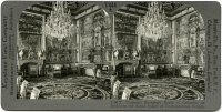 0326562 © Granger - Historical Picture ArchiveFRANCE: FONTAINEBLEAU.   The reception room of Catherine de Medici at the Palace of Fontainebleau, near Paris, France. Stereograph, early 20th century.