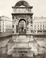 0350660 © Granger - Historical Picture ArchivePARIS: FOUNTAIN, c1858.   View of the Fontaine des Innocents in Paris, France. Photograph by Charles Marville, c1858.