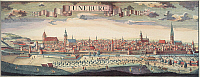 0007655 © Granger - Historical Picture ArchiveGERMANY: LUENEBURG, 1730.   View of the city of Lueneburg, Germany: line engraving by Friedrich Bernhard Werner and I. Wolffy, 1730.