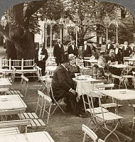 0077431 © Granger - Historical Picture ArchiveBERLIN: BEER GARDEN, 1914.   A family party in Kroll's famous beer garden, Berlin, Germany. Photographed c1914.