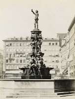 0350906 © Granger - Historical Picture ArchiveMUNICH: FOUNTAIN.   A fountain in Munich, Germany. Photograph, c1900.