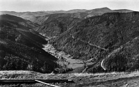 0433598 © Granger - Historical Picture ArchiveGERMANY: WIESENTAL, c1920.   View from Feldberg of the Black Forrest towards Wiesental, Germany. Photograph, c1920.