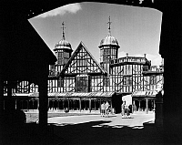 0116302 © Granger - Historical Picture ArchiveENGLAND: WINDSOR CASTLE.   The Horseshoe Cloister,  built c1480, by King Edward IV for the priest vicars. Photograph, mid-20th century.