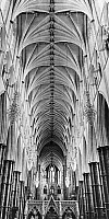 0116305 © Granger - Historical Picture ArchiveLONDON: WESTMINSTER ABBEY.   The nave of Westminster Abbey, the highest Gothic nave in England. Photograph, mid-20th century.