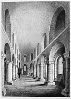 0116398 © Granger - Historical Picture ArchiveTOWER OF LONDON: CHAPEL.   The Norman Chapel in the White Tower, built, 1080, of marble from Caen, France. Line engraving, English, c1845.