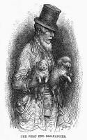 0354623 © Granger - Historical Picture ArchiveDORÉ: LONDON, 1872.   'The West End Dog-Fancier.' Wood engraving after Gustave Doré from 'London: A Pilgrimage,' 1872.