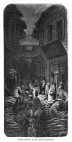 0354710 © Granger - Historical Picture ArchiveDORÉ: LONDON, 1872.   'Dark House Lane - Billingsgate.' Wood engraving after Gustave Doré, from the series 'London: A Pilgrimage,' 1872.
