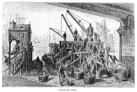 0354712 © Granger - Historical Picture ArchiveDORÉ: LONDON, 1872.   'Limehouse Dock.' Wood engraving after Gustave Doré, from the series 'London: A Pilgrimage,' 1872.