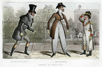 0620147 © Granger - Historical Picture ArchiveLONDON, c1815.   'Dandies of other Days: Sir Lumley Skeffington, Lord Petersham.' Engraving, 1889.
