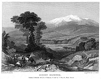 0073912 © Granger - Historical Picture ArchiveGREECE: MOUNT OLYMPUS.   Steel engraving, English, 1833.