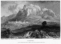 0094996 © Granger - Historical Picture ArchiveGREECE: CORINTH, 1832.   View of Corinth, Greece. Steel engraving, English, 1832, by Edward Finden after Clarkson Stanfield.