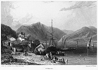 0094997 © Granger - Historical Picture ArchiveGREECE: ITHACA, 1832.   View of the Greek island of Ithaca, in the Ionian Sea. Steel engraving, English, 1832, by Edward Finden after Clarkson Stanfield.