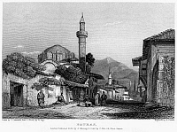 0094998 © Granger - Historical Picture ArchiveGREECE: PATRAS, 1832.   View of Patras, Greece. Steel engraving, English, 1832, by Edward Finden after George Cattermole.