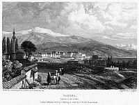 0095001 © Granger - Historical Picture ArchiveGREECE: YANINA, 1833.   View of the city of Yanina, in Epirus in northwestern Greece. Steel engraving, English, 1833, by Edward Finden after James Duffield Harding.