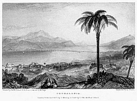 0095006 © Granger - Historical Picture ArchiveGREECE: KEFALONIA, 1833.   View of the Greek island of Kefalonia (Cephalonia), in the Ionian Sea. Steel engraving, English, 1833, by Edward Finden after Joseph Mallord William Turner.
