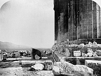 0108698 © Granger - Historical Picture ArchiveATHENS: ACROPOLIS.   Stylobate, or foundation for the columns on the eastern facade of the Acropolis at Athens, Greece. Photograph by William James Stillman, 1870.