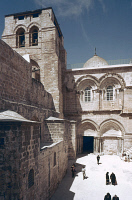 0055967 © Granger - Historical Picture ArchiveHOLY SEPULCHER.   The south front side of the Church of the Holy Sepulcher in Jerusalem.