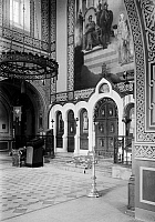 0120078 © Granger - Historical Picture ArchiveHOLY LAND.   Interior of the Russian Orthodox Church of Saint Mary Magdalene, Mount of Olives, East Jerusalem. Stereograph, c1910.