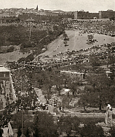 0120096 © Granger - Historical Picture ArchiveJERUSALEM: PASSOVER.   Aerial view of a procession of worshipers during Passover, Mount of Olives, East Jerusalem. Photographed on 17 July 1911.