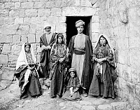 0130612 © Granger - Historical Picture ArchiveRAMALLAH: FAMILY, c1910.   A Palestinian family in Ramallah. Photograph, c1910.