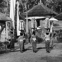 0260197 © Granger - Historical Picture ArchiveBALI: FESTIVAL.   A temple festival in Bali, Indonesia. Photograph, mid 20th century.