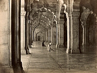 0072049 © Granger - Historical Picture ArchiveINDIA: FRIDAY MOSQUE.   The Friday Mosque of Fatehpur Sikri, built by Akbar to honor Shaikh Salim, the Chishti saint. It was ther largest mosque of the Mughal Empire in its time. Photographed, c1890.