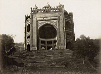 0072051 © Granger - Historical Picture ArchiveINDIA: BULAND DARWAZA.   An entrance to the imperial city of Fatehpur Sikri, built by Emperor Akbar in 1602. Photograph, c1890.